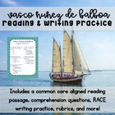 Vasco Nunez de Balboa Reading & Writing Practice