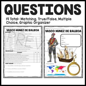 Vasco Nunez de Balboa article, questions, Age of Exploration, Spanish