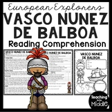 Vasco Nunez de Balboa Reading Comprehension Worksheet, Exploration