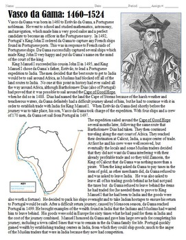 Vasco da Gama Biography: Indian Voyages