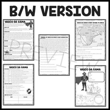 Vasco da Gama article, questions, primary sources, Explorers, Portuguese