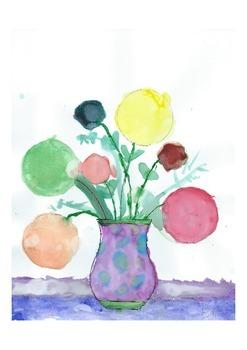 'Vase of Circle Flowers'  (SAMPLE by Ellie, a 1st grader)