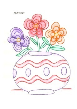 Elementary Visual Art Project - Vase with Flowers