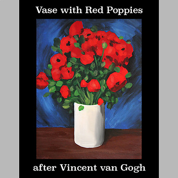 Vase with Red Poppies after Vincent van Gogh