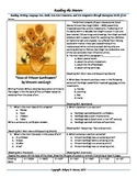 """Intervention & Test Prep with """"Vase with Twelve Sunflowers"""" by VanGogh"""