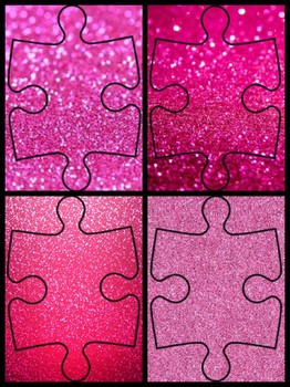 Vcop connectives glitter pink jigsaw for display