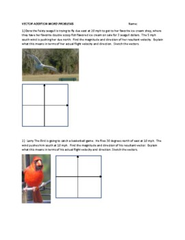 Vector Addition Word Problems