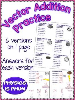 Vector Addition - nonRight Angles - Physics