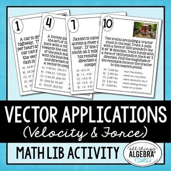 Vector Applications Math Lib Activity
