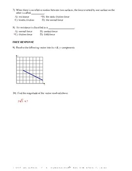 Vector Basics & Displacement- Quiz or Worksheet