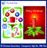 Vector 'Christmas Decorations' Set (Digital Clip Art)