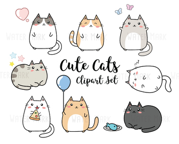 instant download- kawaii clipart High quality png clipart CUTE CLIPART SET kawaii clip art cute clip art