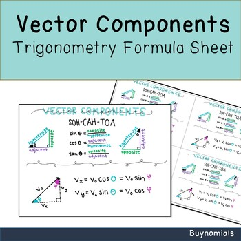 Vector Components Worksheets Teaching Resources Tpt