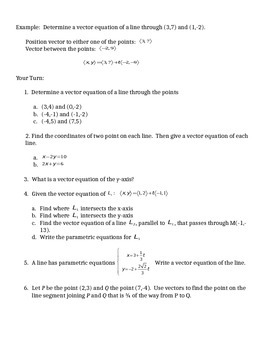 Vector Equation of a Line in 2D