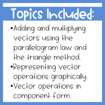 Vector Operations Guided Notes and Homework {Precalculus or Geometry}