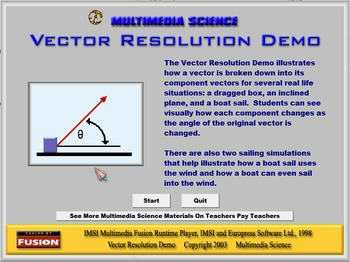Physics - Vector Resolution Demo Software