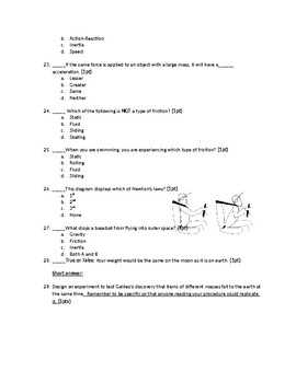 Vector, Speed, and Force Quiz