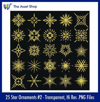 Vector 'Star Ornaments' Set #2 (Digital Clip Art)