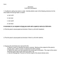 Vector Word Problems Worksheet with Answers