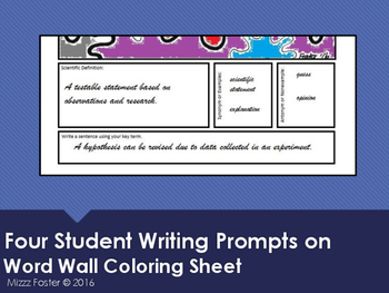 Vector Word Wall Coloring Sheet