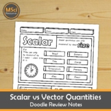 Vector and Scalar Quantities Middle School Physics Doodle Notes