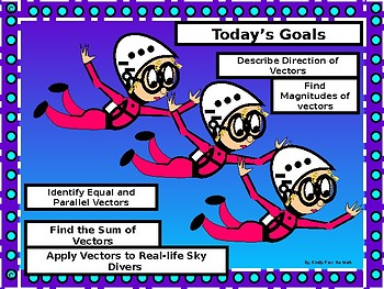 Geometry PowerPoint: Vectors with GUIDED NOTES