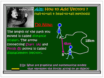 Vectors Operations: Addition: Tail-to-Tail Head-to-Tail Me
