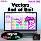 Vectors Digital Maze for End of Unit HW with Google™ Slides