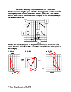 Vectors - Drawing, Component Form and Operations