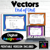 Vectors End of Unit with Google™ Forms Self Checking Digital Assignment