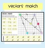 Vectors Matching Activity (Adding, Subtracting Vectors)