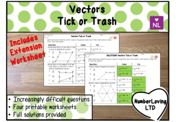 Vectors (Tick or Trash)