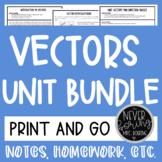 Vectors Unit Bundle (Notes, Homework, Activities) {Precalculus or Geometry}