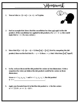 Vectors Unit Bundle (Notes, Homework, Activities) {Precalculus or Geometry}