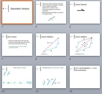 Vectors Unit - PowerPoints, Notes, & Examples BUNDLE