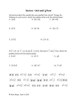 Vectors - Unit and i j form