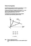 Vectors for  IBH mathematics :  Vector Line Equations