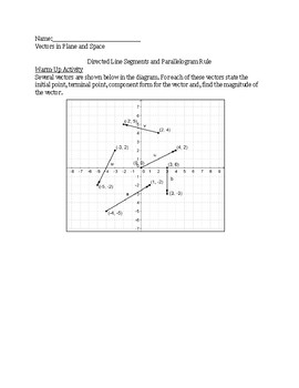 Vectors in the Plane and Space Lesson 3