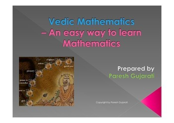 Vedic Mathematics - an easy way to learn mathematics