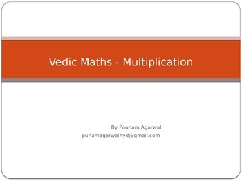 Vedic Maths - multiplication