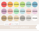 Vegan Label Clipart; Food Allergy, Nutrition