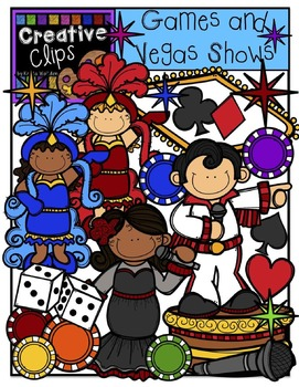Vegas Games and Shows {Creative Clips Digital Clipart}