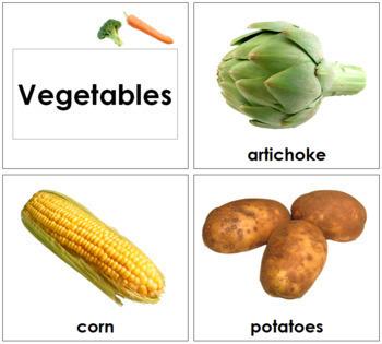 Vegetable Cards - Toddler