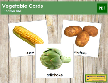 Vegetable Cards - Toddler
