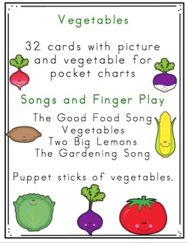 Vegetable Cards and Songs