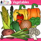 Garden Vegetable Clip Art {Fall Harvest Graphics for Autumn Resources}