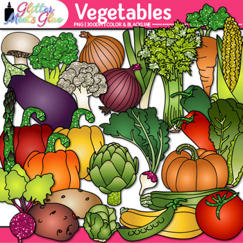 Garden Vegetable Clip Art | Fall Harvest Graphics for Autumn Resources