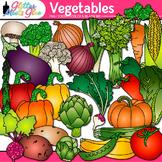 Garden Vegetable Clip Art {Fall Harvest Graphics for Autum