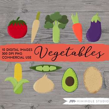 Vegetable Clip Art, Healthy Eating Graphics