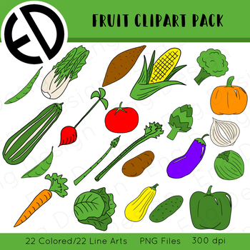 Vegetable Clip Art Pack